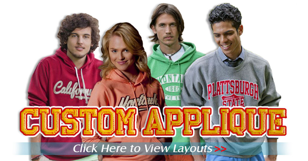 Custom Applique Sweatshirts
